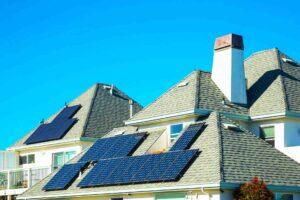 Panel solar en techo