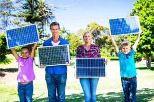 Placas solares familia