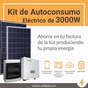 Kit de autoconsumo eléctrico 3000W